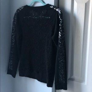 Express Tops - Express sequin and lace back sweatshirt - S